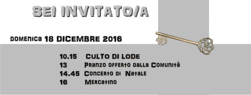 Invito Festa di Natale 2016