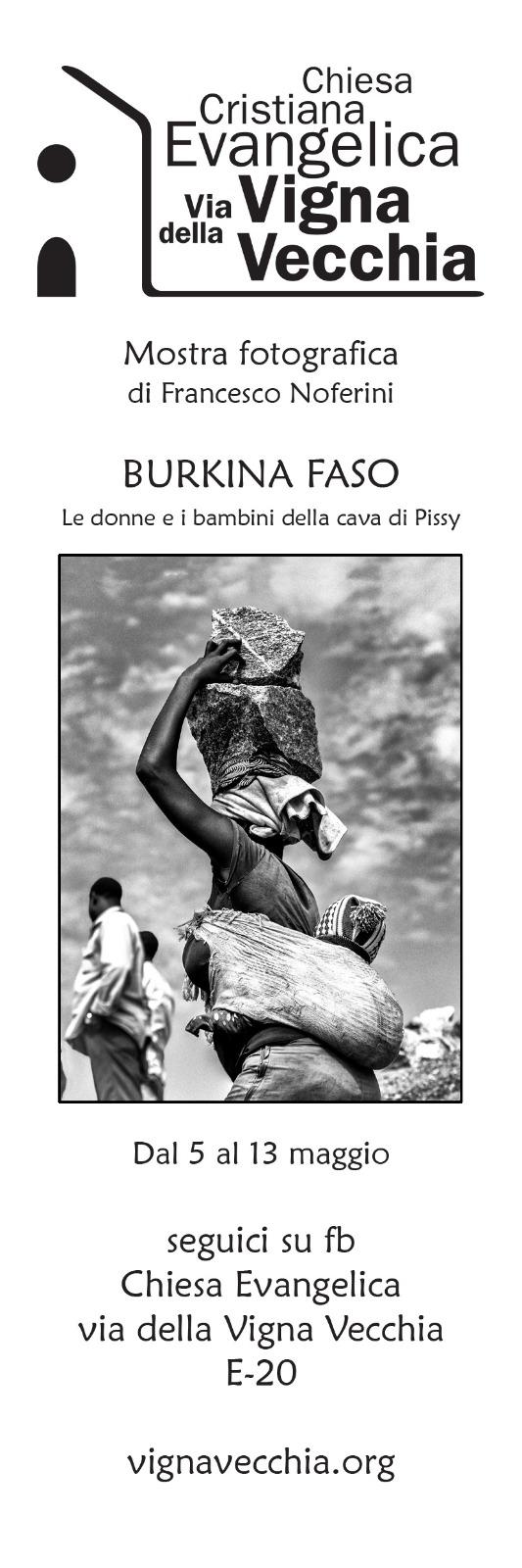 Segnalibro Mostra Fotografica Burkina Faso